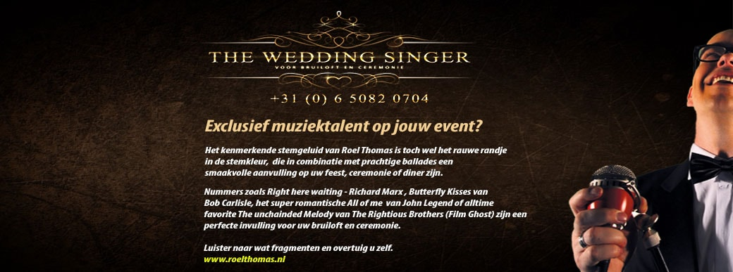 wedding-singer, ceremonie zanger